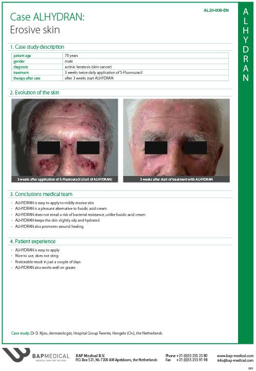 ALHYDRAN Case Study - Erosive skin