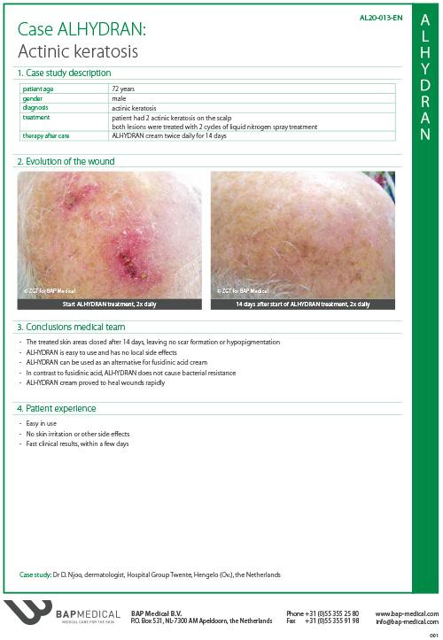ALHYDRAN Case Study - Actinic keratosis