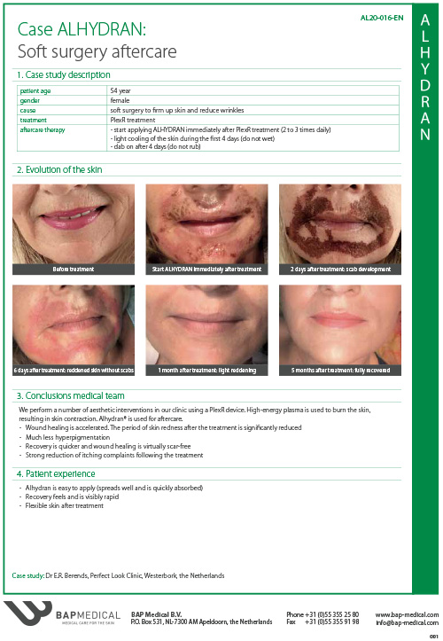 ALHYDRAN Case Study - Soft surgery aftercare
